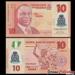 NIGERIA - Billet de 10 Naira - Polymer - 2009 P39a.2.2