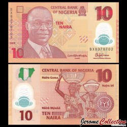 NIGERIA - Billet de 10 Naira - Polymer - 2015 P39f