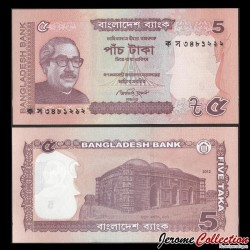 BANGLADESH - Billet de 5 Taka - 2012 P53c