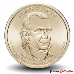 ETATS UNIS / USA - PIECE de 1 Dollar - Séries Présidents: James K. Polk - 2009 - D Km#452