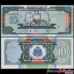 HAITI - Billet de 10 Gourdes - Catherine Flon - 2000 P265a