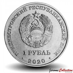 TRANSNISTRIE - PIECE de 1 Rouble - Les chiens Belka et Strelka - Vol orbital - 2020