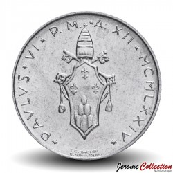 VATICAN - PIECE de 2 Lires - Agneau (Agnus dei) - 1974