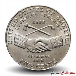 ETATS UNIS / USA - PIECE de 5 Cents - Jefferson - Bicentenaire de l'achat de la Louisiane - 2004 - D Km#360