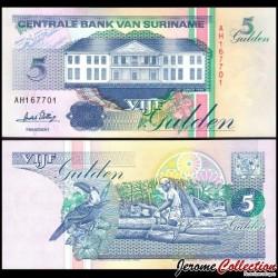SURINAME - Billet de 5 Gulden - 1.12.1996 P136b2