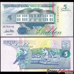 SURINAME - Billet de 5 Gulden - 1.06.1995 P136b1