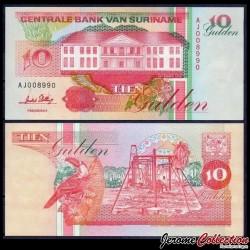 SURINAME - Billet de 10 Gulden - 10.2.1998 P137b2