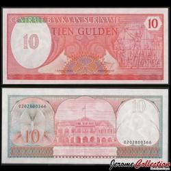 SURINAME - Billet de 10 Gulden - Monument de la Révolte - 1982 P126a