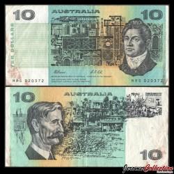 AUSTRALIE - Billet de 10 DOLLARS - Francis Greenway / Henry Lawson - 1979 P45c