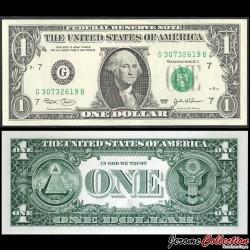 ETATS UNIS / USA - Billet de 1 DOLLAR - 2003 - G(7) Chicago P515ag