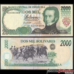 VENEZUELA - Billet de 2000 Bolivares - Antonio Jose de sucre - 12.05.1994 P74a