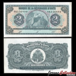HAITI - Billet de 2 Gourdes - Citadelle Henry - 1990 P254a