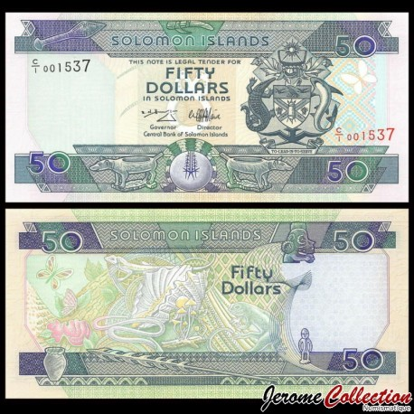 SALOMON (ILES) - Billet de 50 DOLLARS - Geckos - 1996 P22a