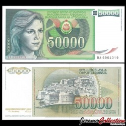 YOUGOSLAVIE - Billet de 50000 Dinara - Dubrovnik - 1988 P96a