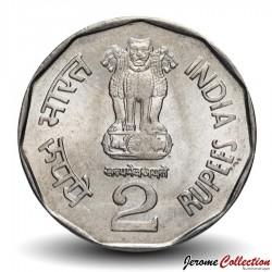 INDE - PIECE de 2 Roupies - 150e anniversaire du Chemin de Fer Indien - 2003