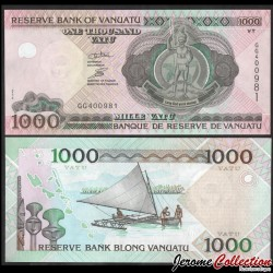 VANUATU - Billet de 1000 Vatu - Voilier à balancier - 2010 P10c