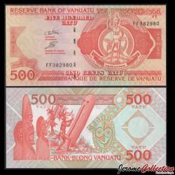 VANUATU - Billet de 500 Vatu - Joueurs de tambour - 2011
