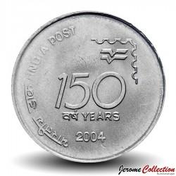 INDE - PIECE de 1 Roupie - 150ème anniversaire du Service Postal indien - 2004 Km#321