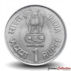 INDE - PIECE de 1 Roupie - 150ème anniversaire du Service Postal indien - 2004