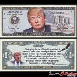 ETATS UNIS - Billet de TRUMP Presidential Million - 2016