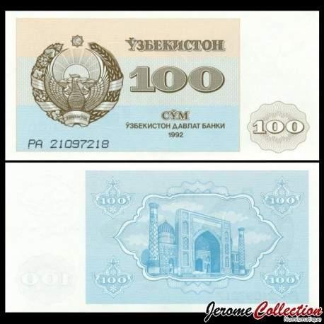 OUZBEKISTAN - Billet de 100 Som - Médersa - 1992 P67a