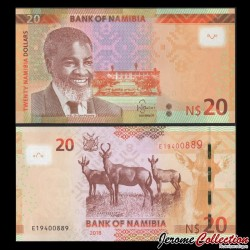 NAMIBIE - Billet de 20 Dollars - Dr. Sam Nujoma - 2018 P17b