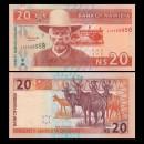 NAMIBIE - Billet de 20 Dollars  - Capitaine Hendrik Witbooi - Bubale roux - 2002