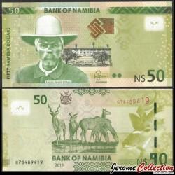 NAMIBIE - Billet de 50 Dollars  - Capitaine Hendrik Witbooi - Kudu - 2019