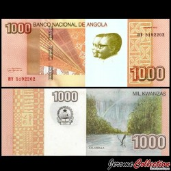 ANGOLA - Billet de 1000 Kwanzas - Cascades de Kalandula - 2012