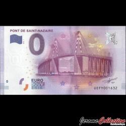 BILLET TOURISTIQUE - ZERO 0 EURO - FRANCE - PONT DE ST NAZAIRE - 2016 UEFY - 2016-1