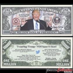ETATS-UNIS - Billet de Million DOLLAR President - Tweeting Trump - 2017