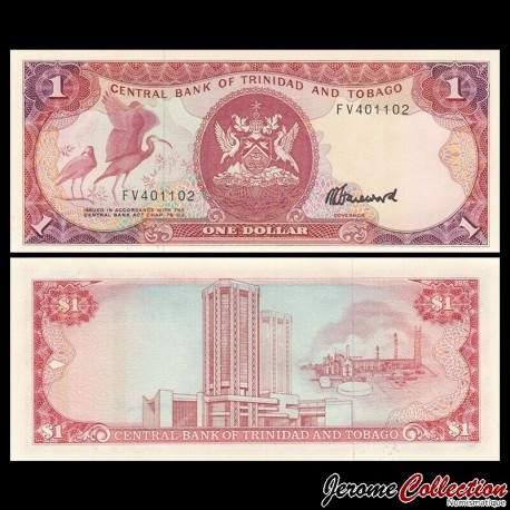 TRINITÉ-ET-TOBAGO - Billet de 1 DOLLAR - Oiseau Ibis rouge - 1985 P36c