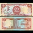 TRINITÉ-ET-TOBAGO - Billet de 1 DOLLAR - Oiseau Ibis rouge - 2002