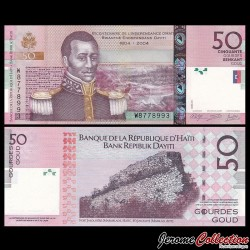 HAITI - Billet de 50 Gourdes - 2014 P274e