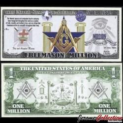 ETATS-UNIS - Billet de 1 Freemason Million / Franc maçonnerie - 2016