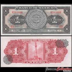 MEXIQUE - BILLET de 1 Peso - Calendrier aztèque - 1969 P59k1