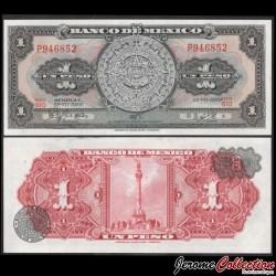 MEXIQUE - BILLET de 1 Peso - Calendrier aztèque - 1970 P59l2