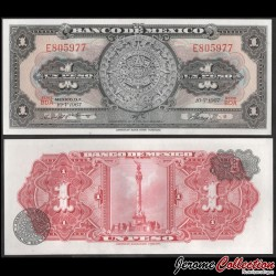 MEXIQUE - BILLET de 1 Peso - Calendrier aztèque - 1967