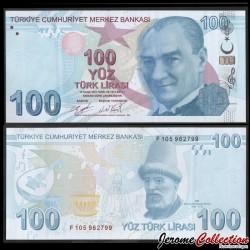 TURQUIE - Billet de 100 Livre Turque - Mustafa Ruhi Efendi - 2020 P226c