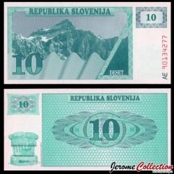 SLOVENIE - Billet de 10 Tolarjev - 1990 - Mont Triglav P4a
