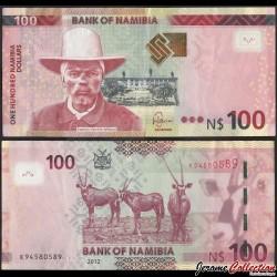 NAMIBIE - Billet de 50 Dollars  - Capitaine Hendrik Witbooi - Oryx - 2012
