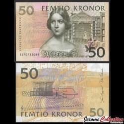 SUEDE - Billet de 50 Couronnes - Johanna Maria Lind - 2003 P62b