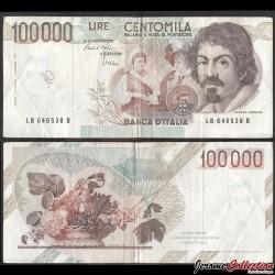 ITALIE - Billet de 100000 Lire - Le Caravage - 1986 P110a