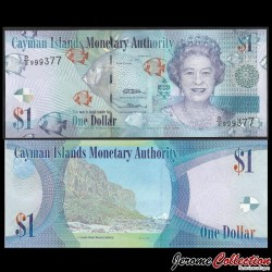 CAIMANS (ILES) - Billet de 1 DOLLAR - Elizabeth II, Poissons Tropicaux - 2010 P38b