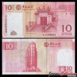 MACAO - Billet de 10 Patacas - Le temple d'A-Ma - 2013 P108b1