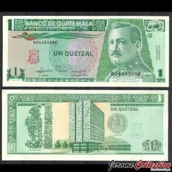 GUATEMALA - Billet de 1 Quetzal - Général José María Orellana - 1992 P73c