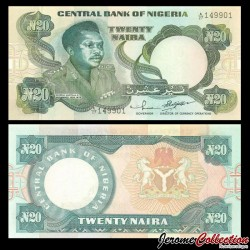 NIGERIA - Billet de 20 Naira - Général Murtala Ramad Muhammed - 1984 P26d