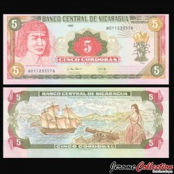 NICARAGUA - Billet de 5 Córdobas - 1995 P180a