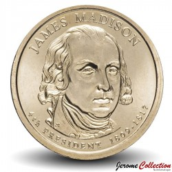 ETATS UNIS / USA - PIECE de 1 Dollar - Séries Présidents: James Madison - 2007 - D Km#404