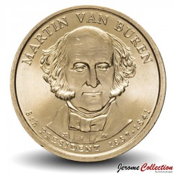 ETATS UNIS / USA - PIECE de 1 Dollar - Séries Présidents: Martin van Buren - 2008 - D Km#429